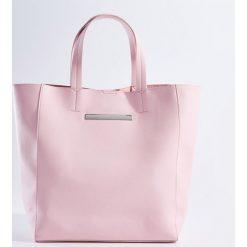 Kosmetyczki damskie: Duża torba shopper z kosmetyczką – Różowy