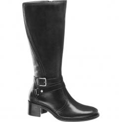 Kozaki damskie 5th Avenue czarne. Czarne buty zimowe damskie marki 5th Avenue, z materiału, na obcasie. Za 279,90 zł.