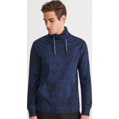 Bluza ze stójką - Granatowy. Niebieskie bluzy męskie marki QUECHUA, m, z elastanu. Za 79,99 zł.