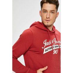 Jack & Jones - Bluza. Różowe bejsbolówki męskie Jack & Jones, l, z nadrukiem, z bawełny, z kapturem. W wyprzedaży za 99,90 zł.