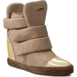 Buty zimowe damskie: Sneakersy CARINII – B3493 Venus 14 Plat. Multik./Samuel 1365