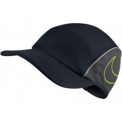 Czapki z daszkiem damskie: Nike Czapka Do Biegania U Nk Arobill aw84 Cap Run, Black Anthracite Volt