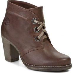Botki KARINO - 0614/007-F Brązowy. Fioletowe buty zimowe damskie marki Karino, ze skóry. W wyprzedaży za 189,00 zł.