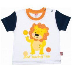 2Be3 T-Shirt Chłopięcy King 74 Żółto/Biały. Białe t-shirty chłopięce 2Be3. W wyprzedaży za 30,11 zł.
