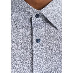 Koszule męskie na spinki: Burton Menswear London LEAF PRINT Koszula grey