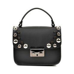 Torebka w kolorze czarnym - (S)18 x (W)15 x (G)6 cm. Czarne torebki klasyczne damskie Bestsellers bags, w paski, z materiału. W wyprzedaży za 229,95 zł.