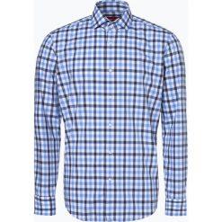 HUGO - Koszula męska – Vordon, niebieski. Niebieskie koszule męskie na spinki marki HUGO, m, w kratkę, z klasycznym kołnierzykiem. Za 399,95 zł.