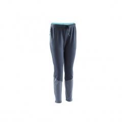 Spodnie treningowe damskie do piłki nożnej TP500. Niebieskie bryczesy damskie marki KIPSTA, l, z elastanu, na fitness i siłownię. W wyprzedaży za 49,99 zł.