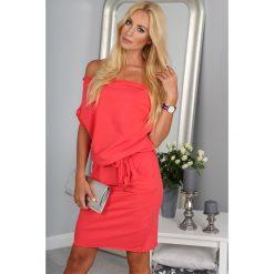 Sukienki: Sukienka Koralowa z wiązaniem 9978