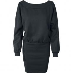 Urban Classics Ladies Sweat Off Shoulder Dress Sukienka czarny. Różowe sukienki marki numoco, l, z dekoltem w łódkę, oversize. Za 121,90 zł.