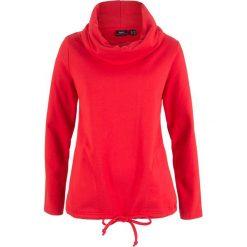 Bluza dresowa bonprix truskawkowy. Czerwone bluzy damskie bonprix, z dresówki. Za 84,99 zł.