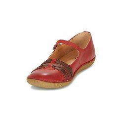 Baleriny Kickers  HIBOU. Czerwone baleriny damskie lakierowane Kickers. Za 351,20 zł.