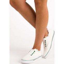 Tenisówki damskie: Wiązane trampki fashion L&H białe