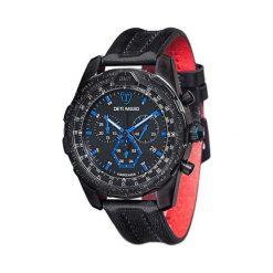 """Zegarki męskie: Zegarek """"DT-YG101-E"""" w kolorze czarno-czerwonym"""