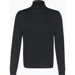 Finshley & Harding - Sweter męski – Pima-Cotton/Kaszmir, czarny. Czarne swetry klasyczne męskie marki Finshley & Harding, w kratkę. Za 249,95 zł.