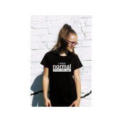 T-shirt I was normal three cats ago. Czarne t-shirty damskie Funfara, s, z bawełny. Za 79,00 zł.