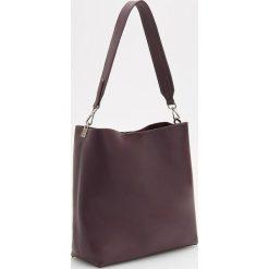 Torebka na ramię - Bordowy. Białe torebki klasyczne damskie marki Reserved, l, z dzianiny. Za 129,99 zł.