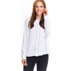 Koszule damskie: KOSZULA DŁUGI RĘKAW DAMSKA, ZE STÓJKĄ I DEKORACYJNYMI TAŚMAMI
