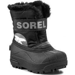 Buty zimowe chłopięce: Śniegowce SOREL – Snow Commander Childrens NC 1877 Black/Charcoal 010