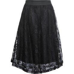 Spódnica bonprix czarny. Czarne spódniczki rozkloszowane bonprix, w koronkowe wzory, z koronki. Za 89,99 zł.