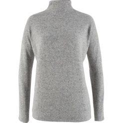 Sweter z polaru oversize bonprix jasnoszary melanż. Szare golfy damskie bonprix, z polaru. Za 32,99 zł.