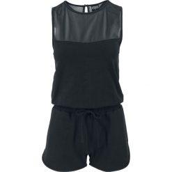 Urban Classics Ladies Tech Mesh Hot Jumpsuit Kombinezon czarny. Czerwone kombinezony damskie marki KALENJI, z elastanu, z krótkim rękawem, krótkie. Za 62,90 zł.