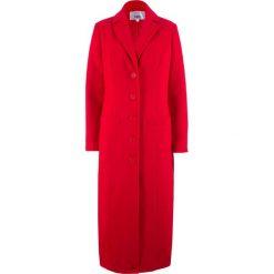 Długi płaszcz bonprix truskawkowy. Czerwone płaszcze damskie bonprix. Za 189,99 zł.
