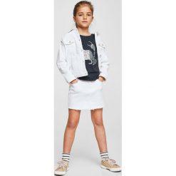 Mango Kids - Top dziecięcy Ocean 110-164 cm. Fioletowe bluzki dziewczęce marki OLAIAN, z elastanu, sportowe. W wyprzedaży za 29,90 zł.