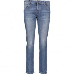 """Dżinsy """"Slouchy"""" - Slim fit - w kolorze niebieskim. Niebieskie jeansy damskie relaxed fit marki Mustang, z aplikacjami, z bawełny. W wyprzedaży za 195,95 zł."""