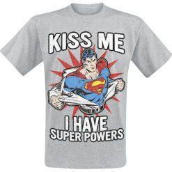T-shirty męskie z nadrukiem: Superman Kiss Me T-Shirt odcienie szarego