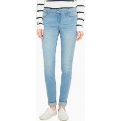 Dżinsy skinny. Szare jeansy damskie marki La Redoute Collections, m, z bawełny, z kapturem. Za 293,96 zł.