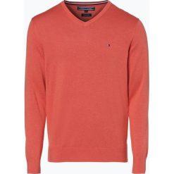 Swetry klasyczne męskie: Tommy Hilfiger – Sweter męski z dodatkiem jedwabiu, czerwony
