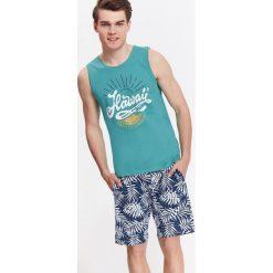 Koszulki męskie: T-SHIRT MĘSKI BEZ RĘKAWÓW Z NADRUKIEM