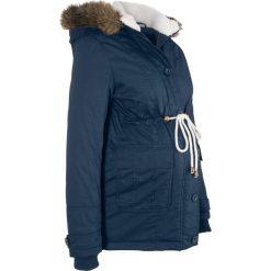 Kurtka ciążowa zimowa bonprix ciemnoniebieski. Niebieskie kurtki ciążowe bonprix, na zimę, z polaru. Za 239,99 zł.