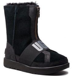 Buty UGG - W Conness Waterproof 1098373 W/Blk. Szare buty zimowe damskie marki Ugg, z materiału, z okrągłym noskiem. Za 1179,00 zł.