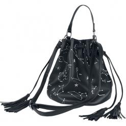 Jawbreaker Astrology Bag Torebka - Handbag czarny. Czarne torebki klasyczne damskie Jawbreaker, z nadrukiem, z nadrukiem, z frędzlami. Za 164,90 zł.