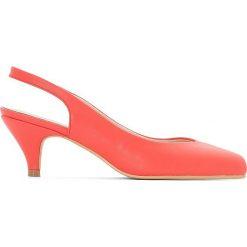 Buty ślubne damskie: Czółenka z gołą piętą na szeroką stopę 38-45