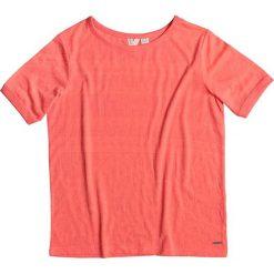 """Koszulka """"Roxy Clouds"""" w kolorze pomarańczowym. Brązowe topy sportowe damskie marki Roxy, xs, z nadrukiem. W wyprzedaży za 86,95 zł."""