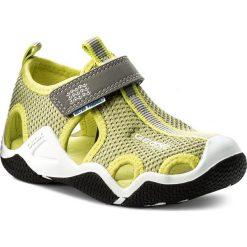 Sandały GEOX - J Wader C J5230C 01415 C0666 M Grey/Lime. Szare sandały chłopięce marki Blukids, z gumy. Za 269,00 zł.