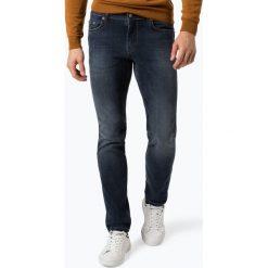 Finshley & Harding - Jeansy męskie – Black Label - Mike, niebieski. Czarne jeansy męskie relaxed fit marki Finshley & Harding, w kratkę. Za 299,95 zł.