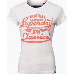 Superdry - T-shirt damski, szary. Szare t-shirty damskie Superdry, l, z nadrukiem. Za 69,95 zł.