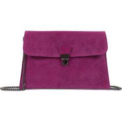 """Puzderka: Skórzana kopertówka """"Sidney"""" w kolorze fioletowym – 27 x 18 x 1 cm"""