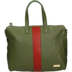 Torba - 100-147-O V-R. Żółte torebki klasyczne damskie Venezia, ze skóry. Za 339,00 zł.