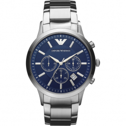 Zegarek EMPORIO ARMANI - Renato AR2448  Silver/Silver. Szare zegarki męskie marki Emporio Armani. Za 1349,00 zł.