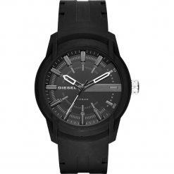 Zegarek DIESEL - Armbar Silicone DZ1830  Black/Black. Czarne zegarki męskie Diesel. Za 379,00 zł.