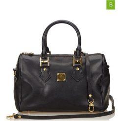 Torebki klasyczne damskie: Skórzana torebka w kolorze czarnym – 27 x 18 x 14 cm