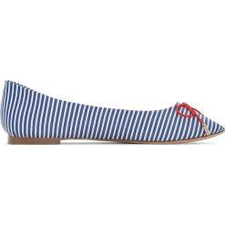 Baleriny damskie lakierowane: Balerinki w paski, odpowiednie na szerokie stopy 38-45
