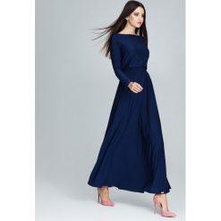 Sukienki hiszpanki: Sukienka maxi m604 granat