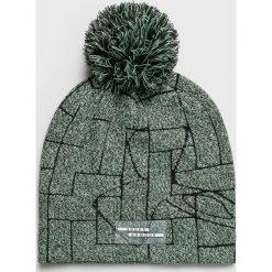 Under Armour - Czapka. Szare czapki zimowe damskie Under Armour, z dzianiny. W wyprzedaży za 99,90 zł.