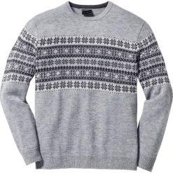 Swetry klasyczne męskie: Sweter norweski Regular Fit bonprix jasnoszary melanż
